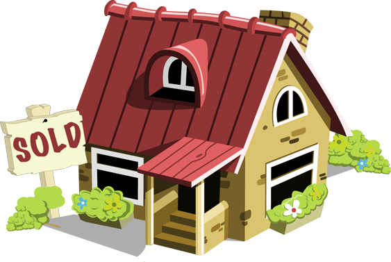 House sold clip art clipart panda free clipart images for Real art for sale