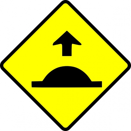 Caution Sped Hump clip art