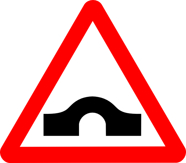Bridge Road Sign clip art is