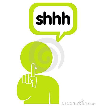 Shhh Clip Art for Pinterest