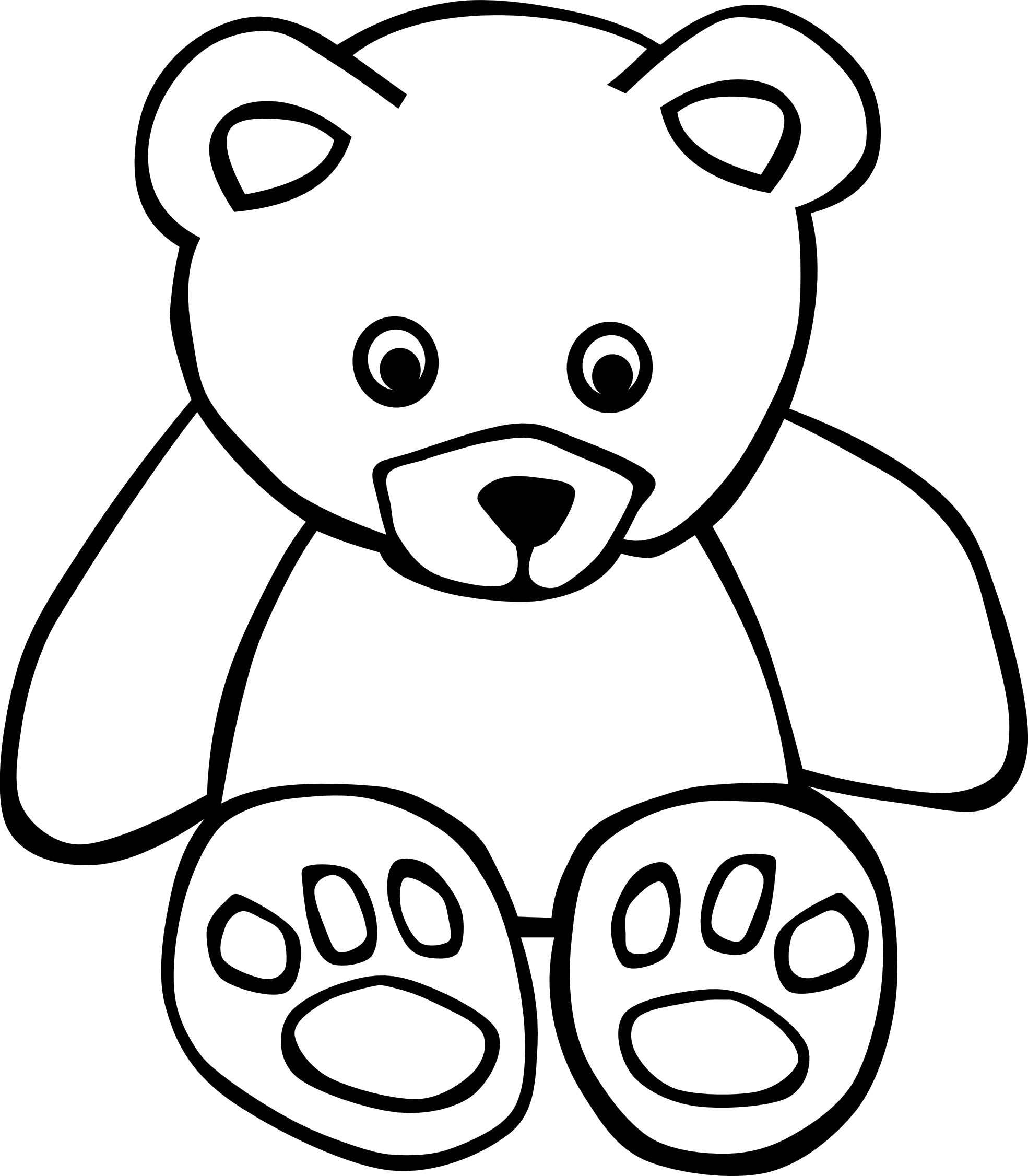 teddy bear clipart black and white clipart panda free clipart images rh clipartpanda com panda bear clipart black and white bear clipart black and white free