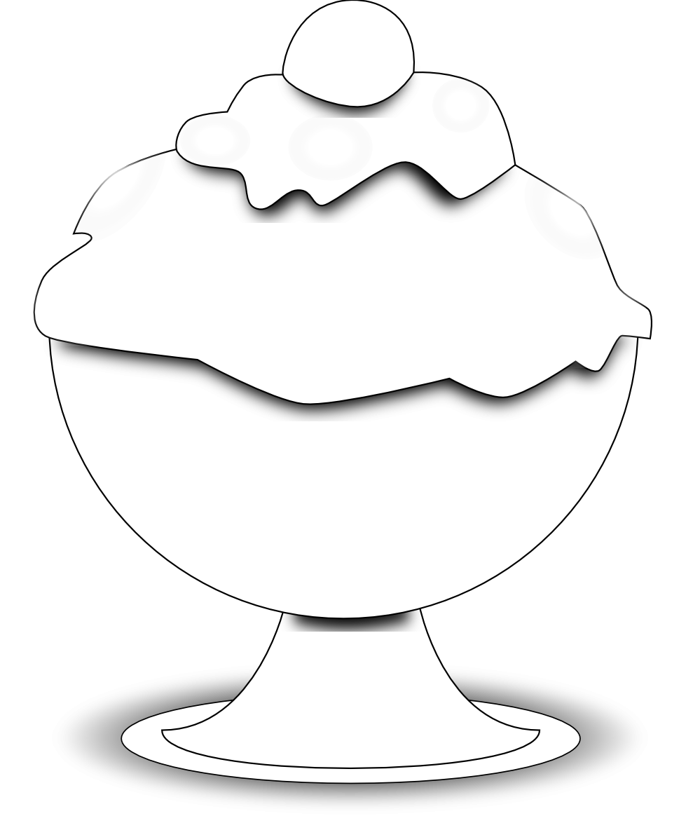 ice%20cream%20bowl%20clipart%20black%20and%20white