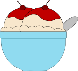 Ice cream bowl. Clipart panda free images
