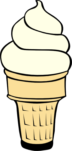 Black And White Ice Cream Cone Clipart | Clipart Panda - Free ...