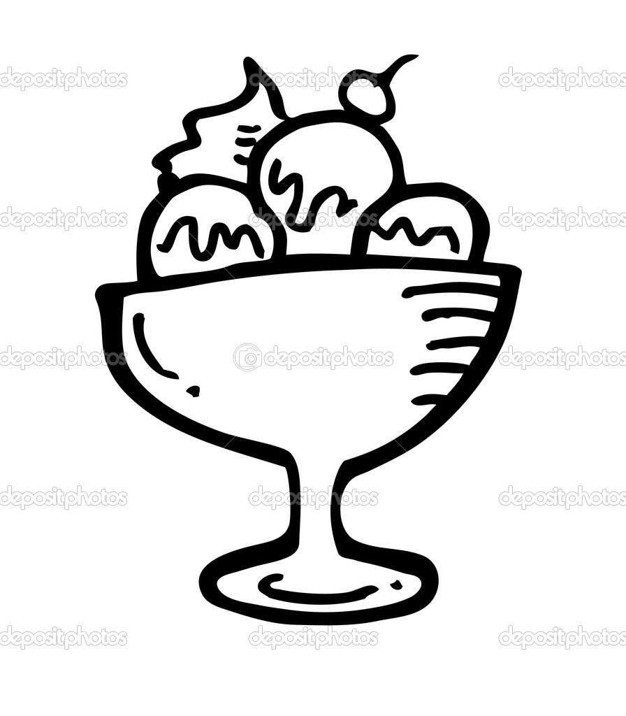 Ice Cream Cup Clip Art Black And White | Clipart Panda - Free ... for Bowl Of Ice Cream Clipart Black And White  8lpfiz