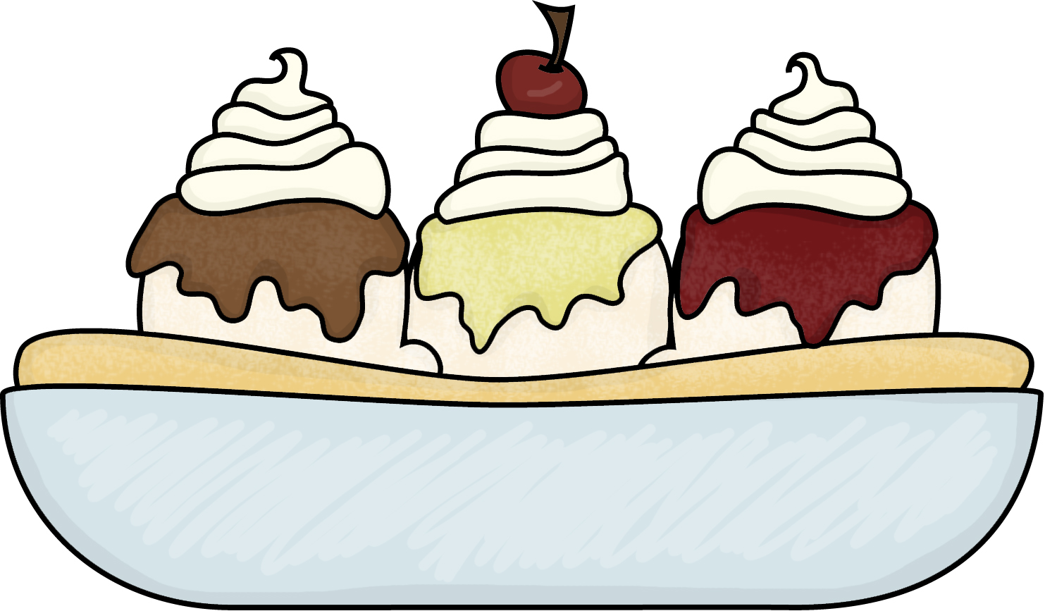 Ice Cream Treats Clip Art | Clipart Panda - Free Clipart Images for Bowl Of Ice Cream Clipart Black And White  193tgx