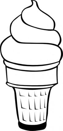 ice-cream-scoop-template-soft-serve-ice-cream-cone-b-and-w-clip-art ...
