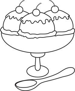 ice20cream20sundae20clipart20black20and20white