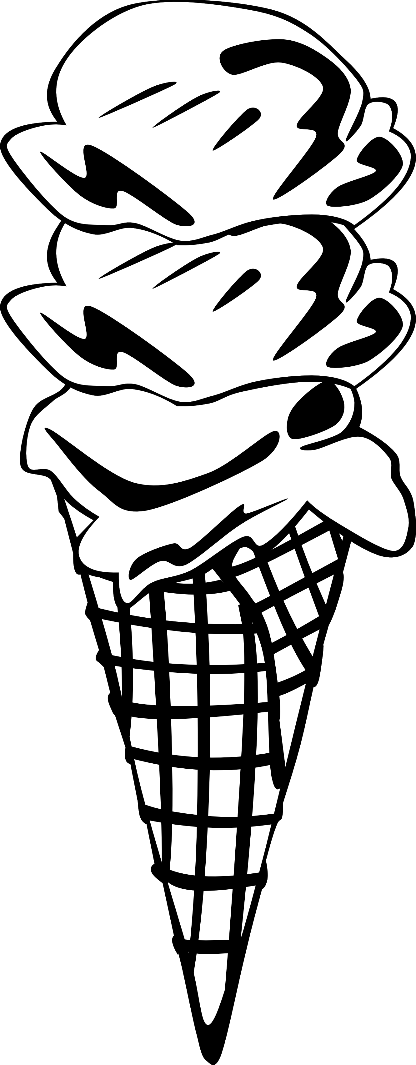 ice%20cream%20sundae%20clipart%20black%20and%20white