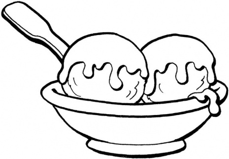 Ice Cream Sundae Clipart Black And White