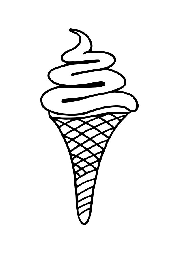 Sundae Coloring Page Pages Free Printable