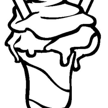 Ice Cream Sundae Coloring Page