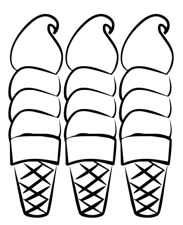 ice cream sundae coloring page three ice cream