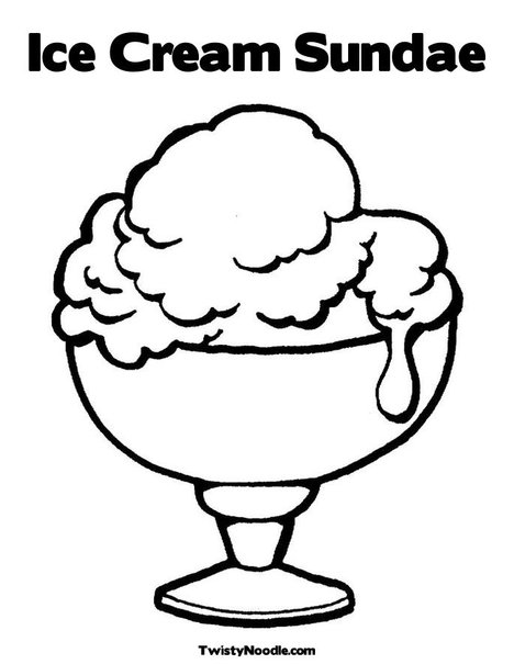 ice cream coloring pages to print - ice cream sundae coloring page clipart panda free