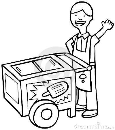 Ice Cream Truck Clip Art Black And White | Clipart Panda - Free ...