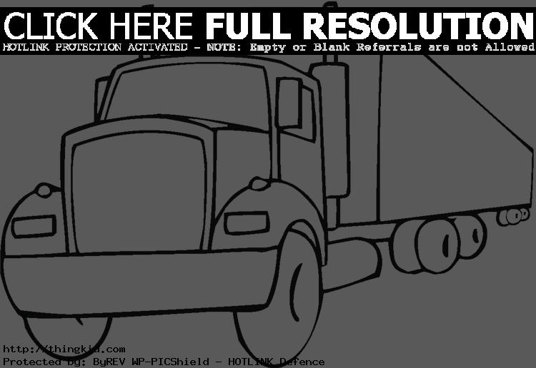 Sizes Truck Coloring Pages