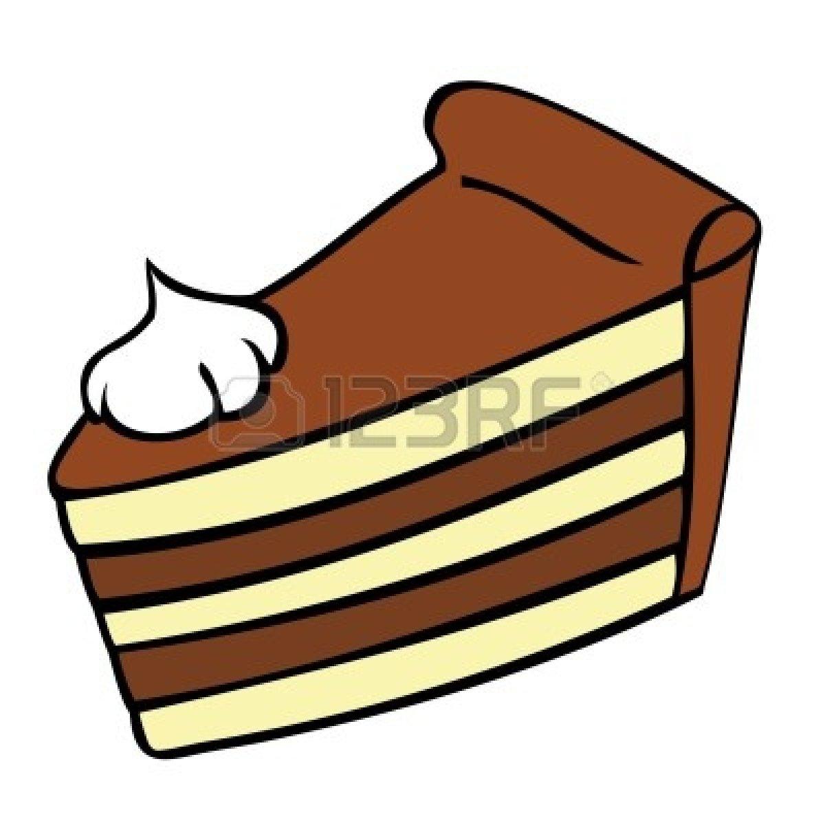 Cartoon cake slice