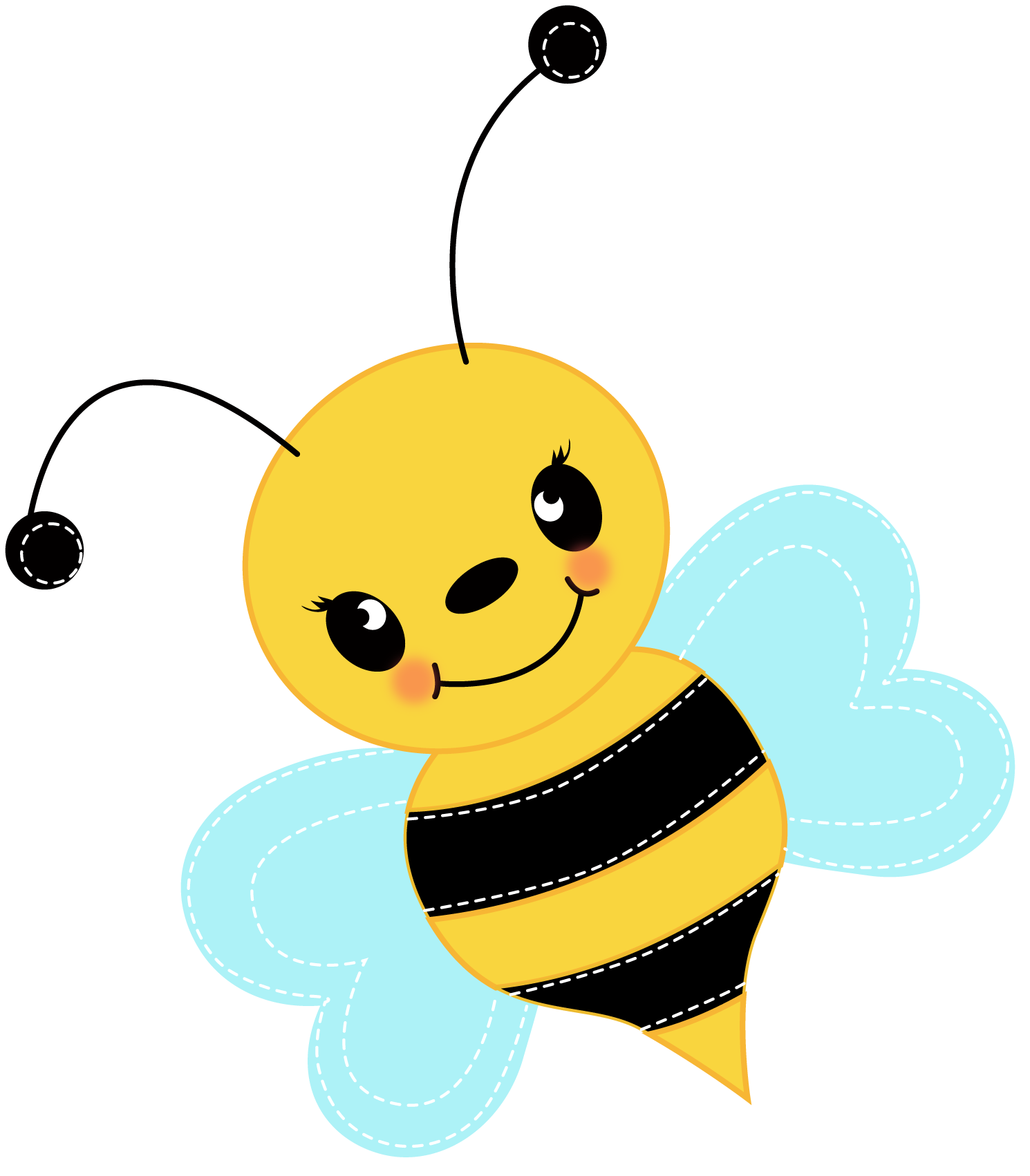 cute baby bee clipart clipart panda free clipart images Bee Outline Vector Black and White Bee Vector