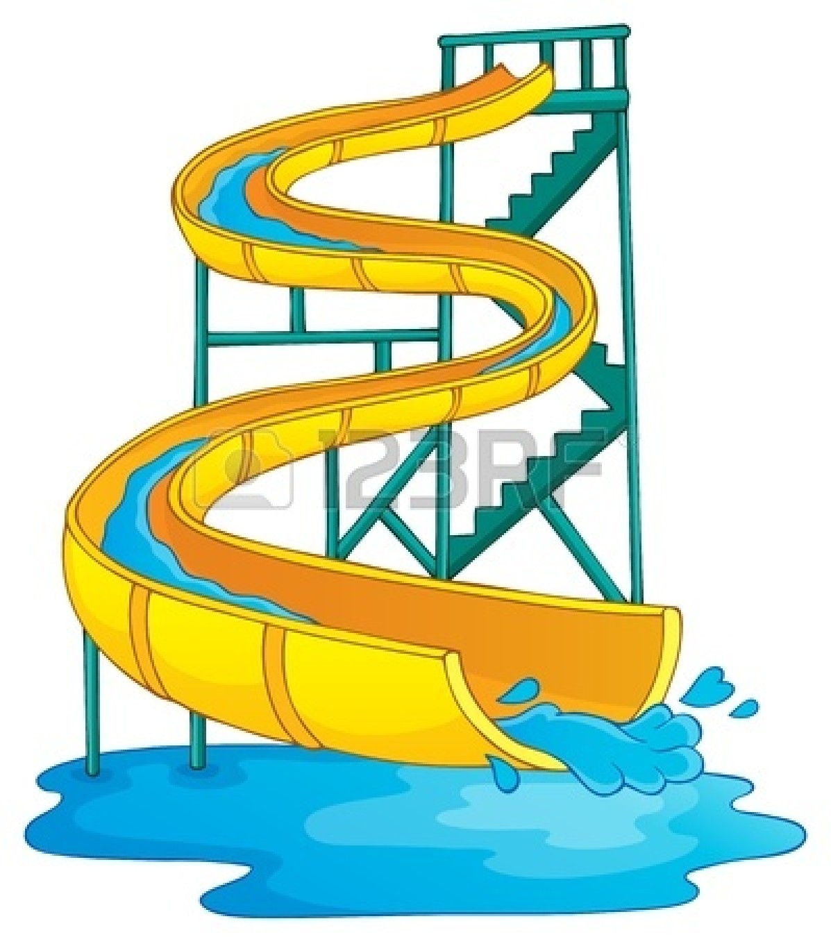 Inflatable Water Slide Clipart | Clipart Panda - Free ...
