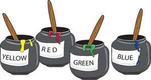 Craft Paint Colour Pots