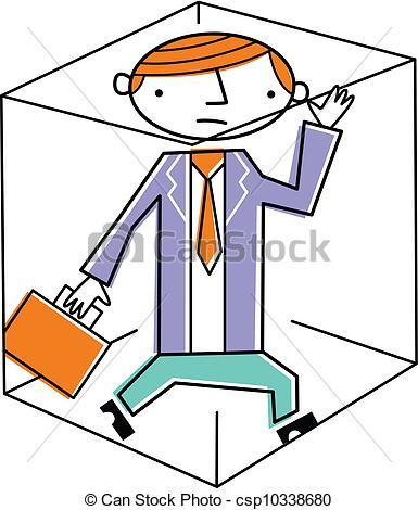 Businessman trapped inside box | Clipart Panda - Free ...