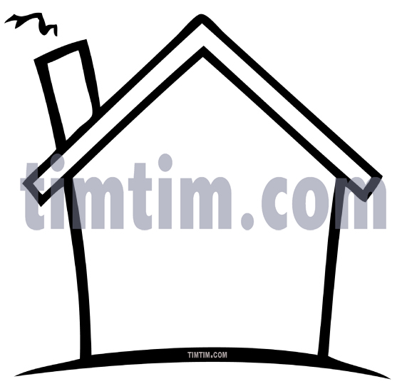 Line Art Drawing House : Inside house drawing clipart panda free images