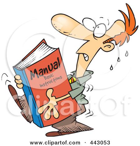 Procedures manual clipart clip art library.