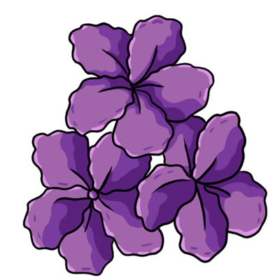 purple flower border clip art  clipart panda  free clipart images, Beautiful flower
