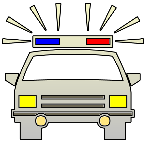 Police Car Clipart Black And White | Clipart Panda - Free Clipart ...