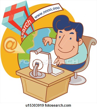 Satisfied Young Man Surfing The Internet in 2020   Man clipart, Surfing, Man