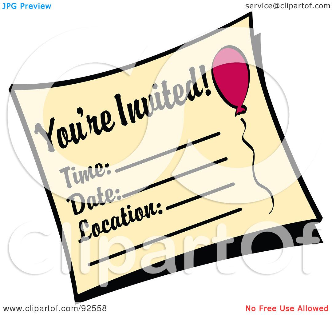 clipart for invitations - photo #14