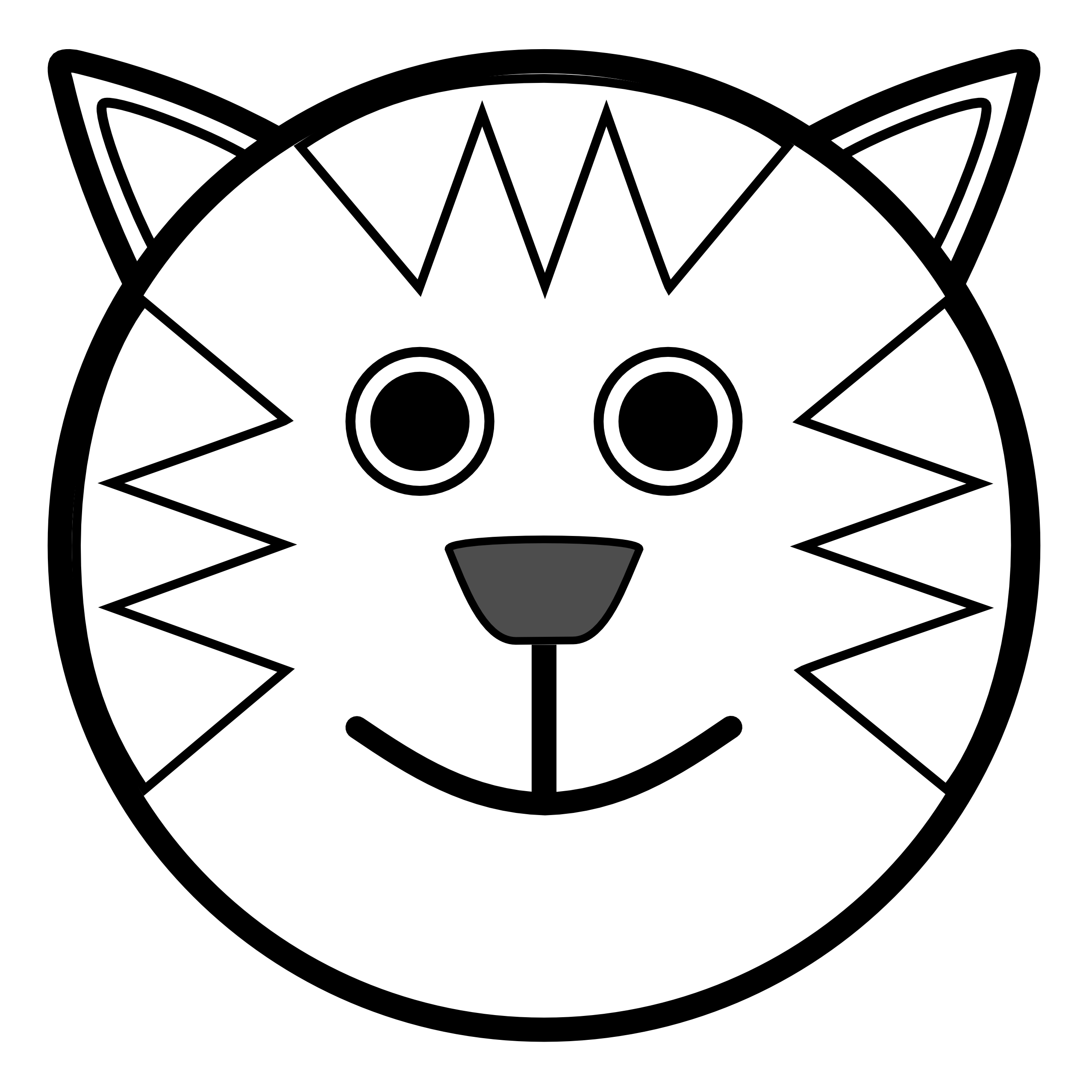 Line Drawing Animal Face : Globe clipart black and white panda free