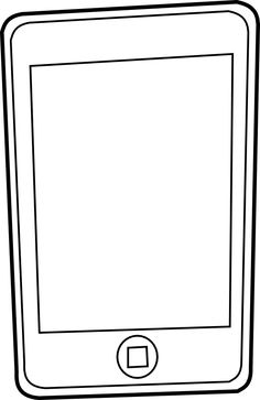 ipod 5 coloring pages | Iphone 5 Clipart | Clipart Panda - Free Clipart Images