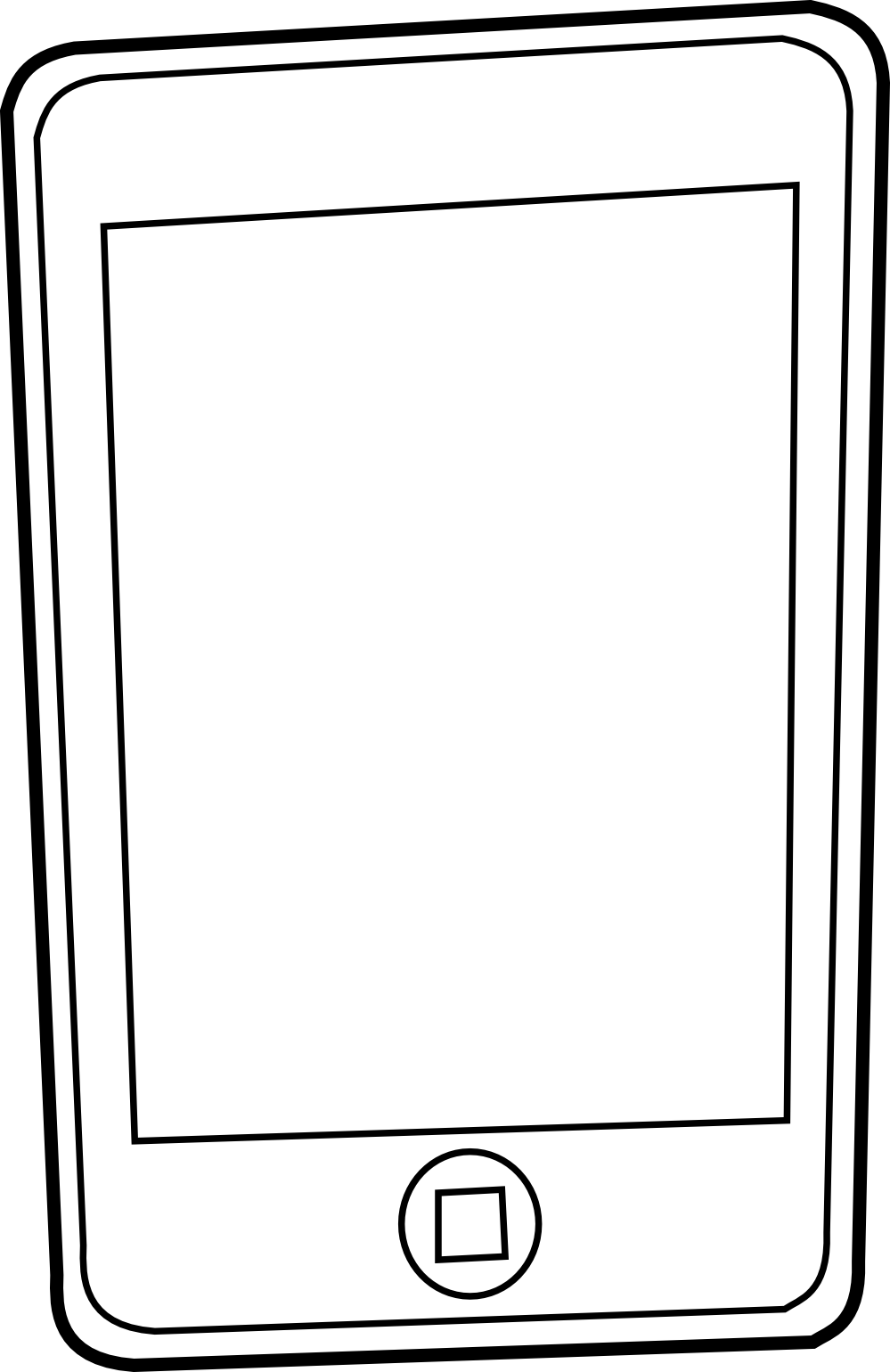 Iphone 4 coloring pages ~ Iphone Clipart Black And White | Clipart Panda - Free ...
