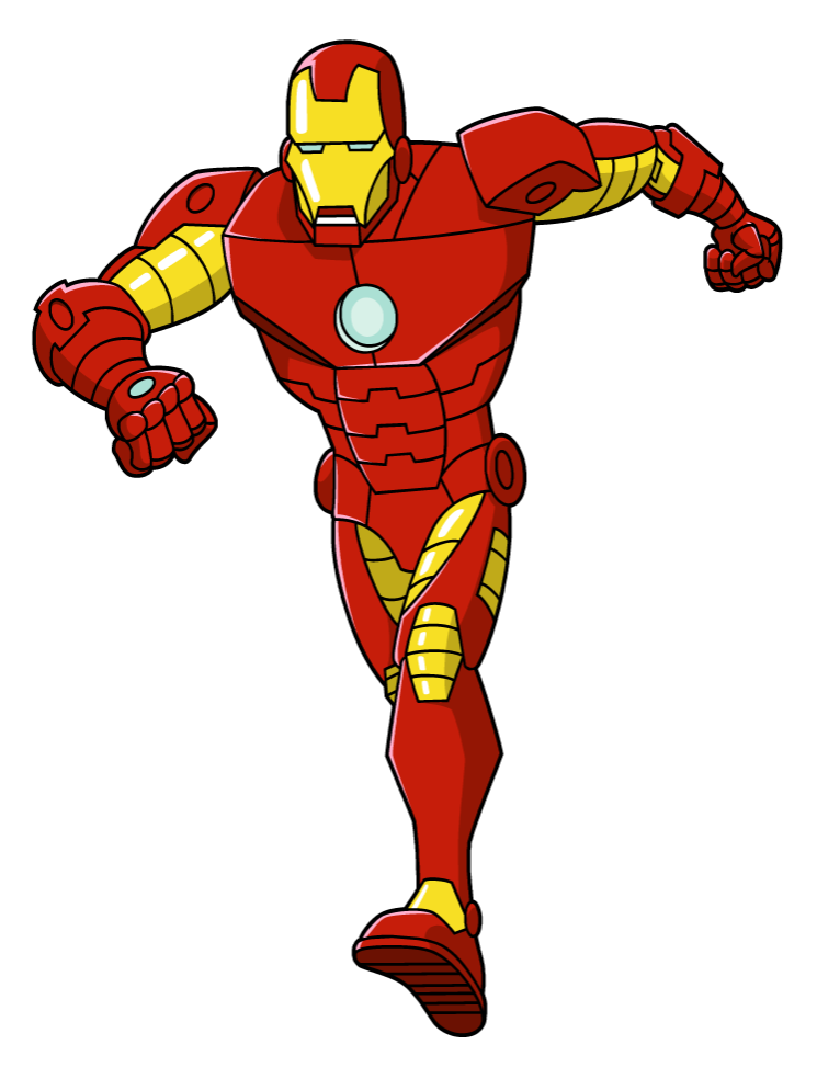 Iron man clipart free clipart panda free clipart images for Disegni da colorare iron man