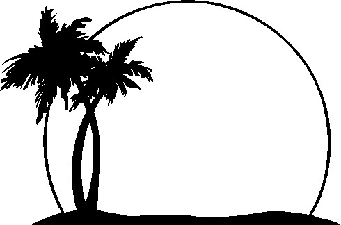 island-clip-art-black-and-white-black-and-white-tree-clipart-palm-tree    Island Clipart Black And White