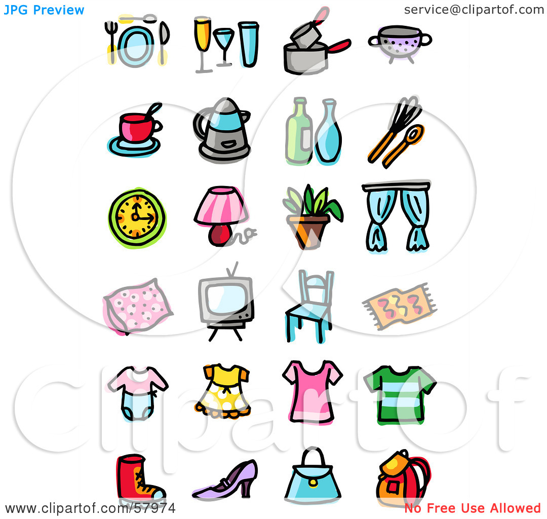 Household clipart clipart panda free clipart images - Household items use ...
