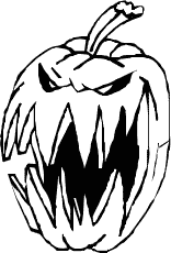 printable scary pumpkin coloring pages - photo#25