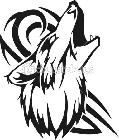Jackal clipart clipart panda free clipart images - Dibujos tribales para tatuar ...