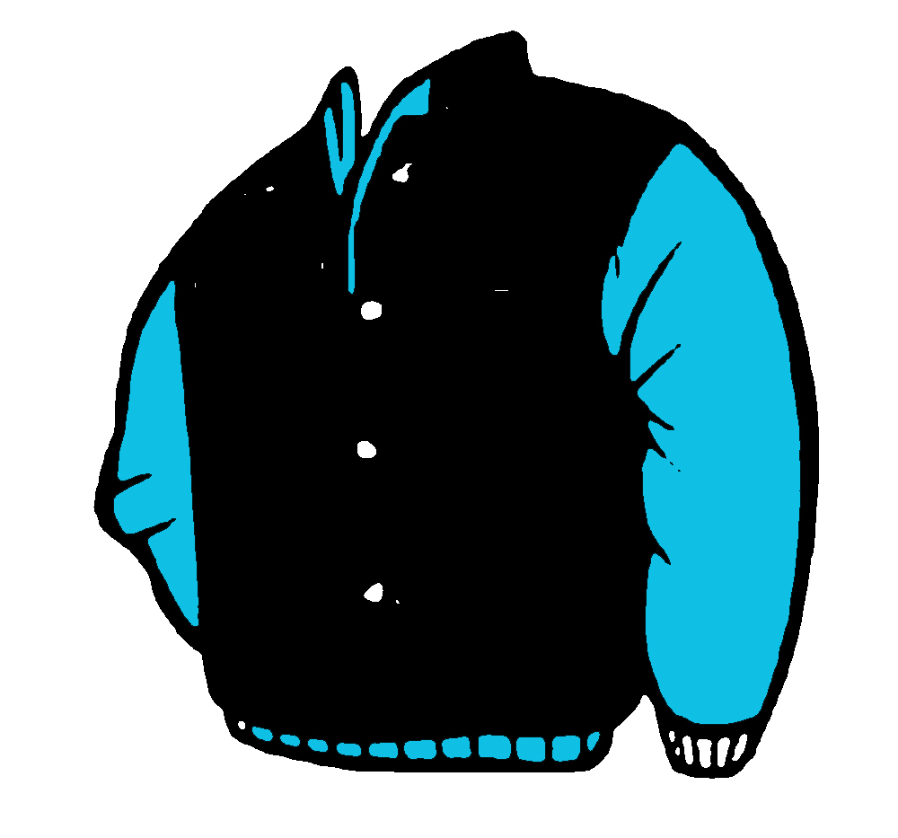 Leather jacket clipart