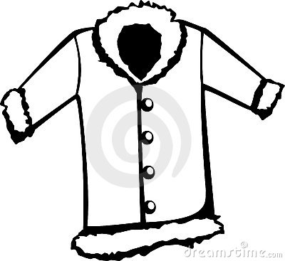 Winter Clothes Clipart Black And White | Clipart Panda ...