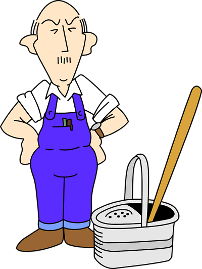 Janitor clip art
