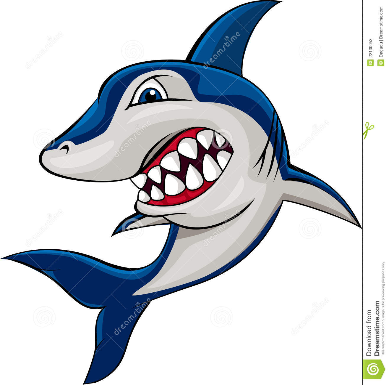 Angry shark clipart - photo#3