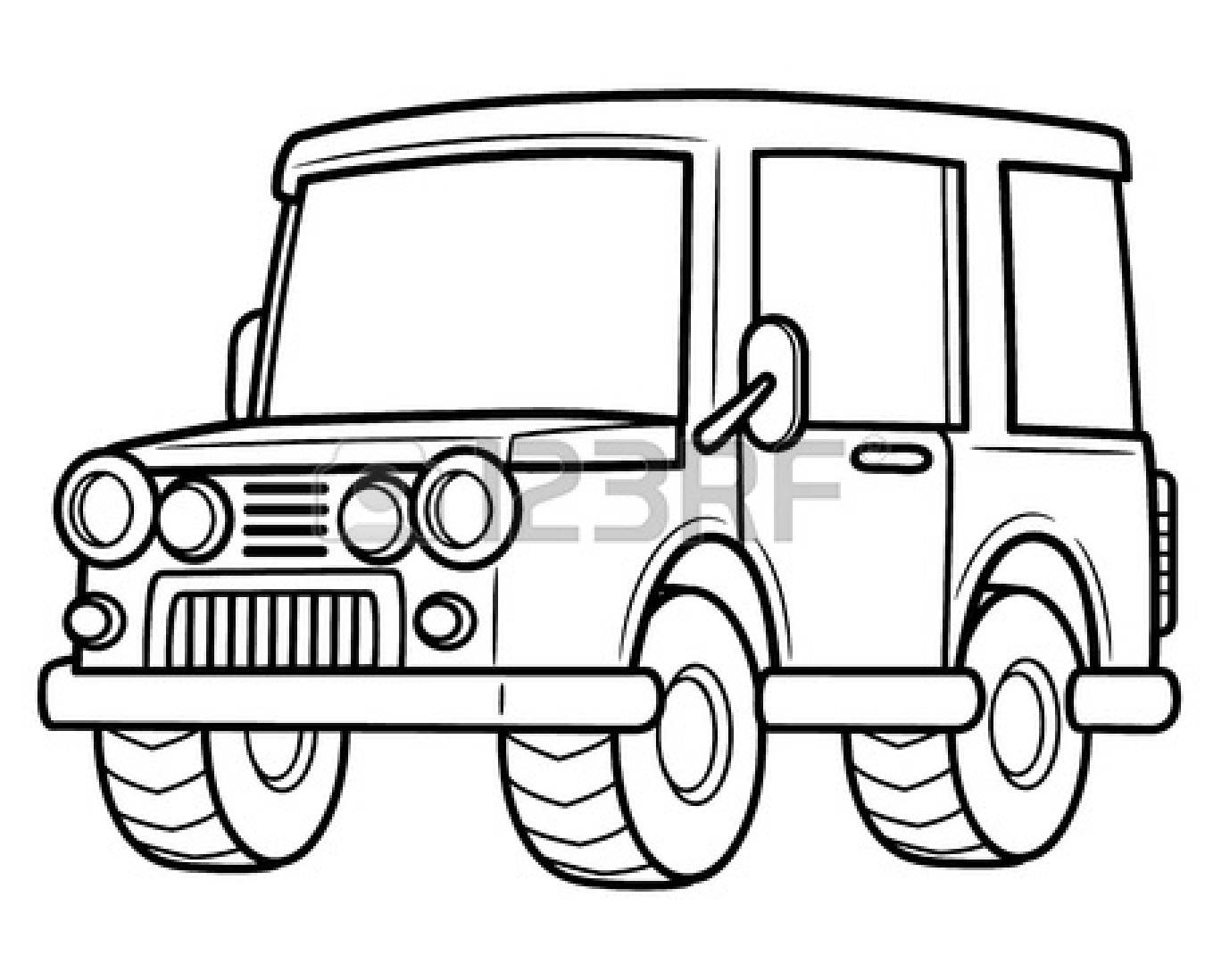 how to draw a army jeep