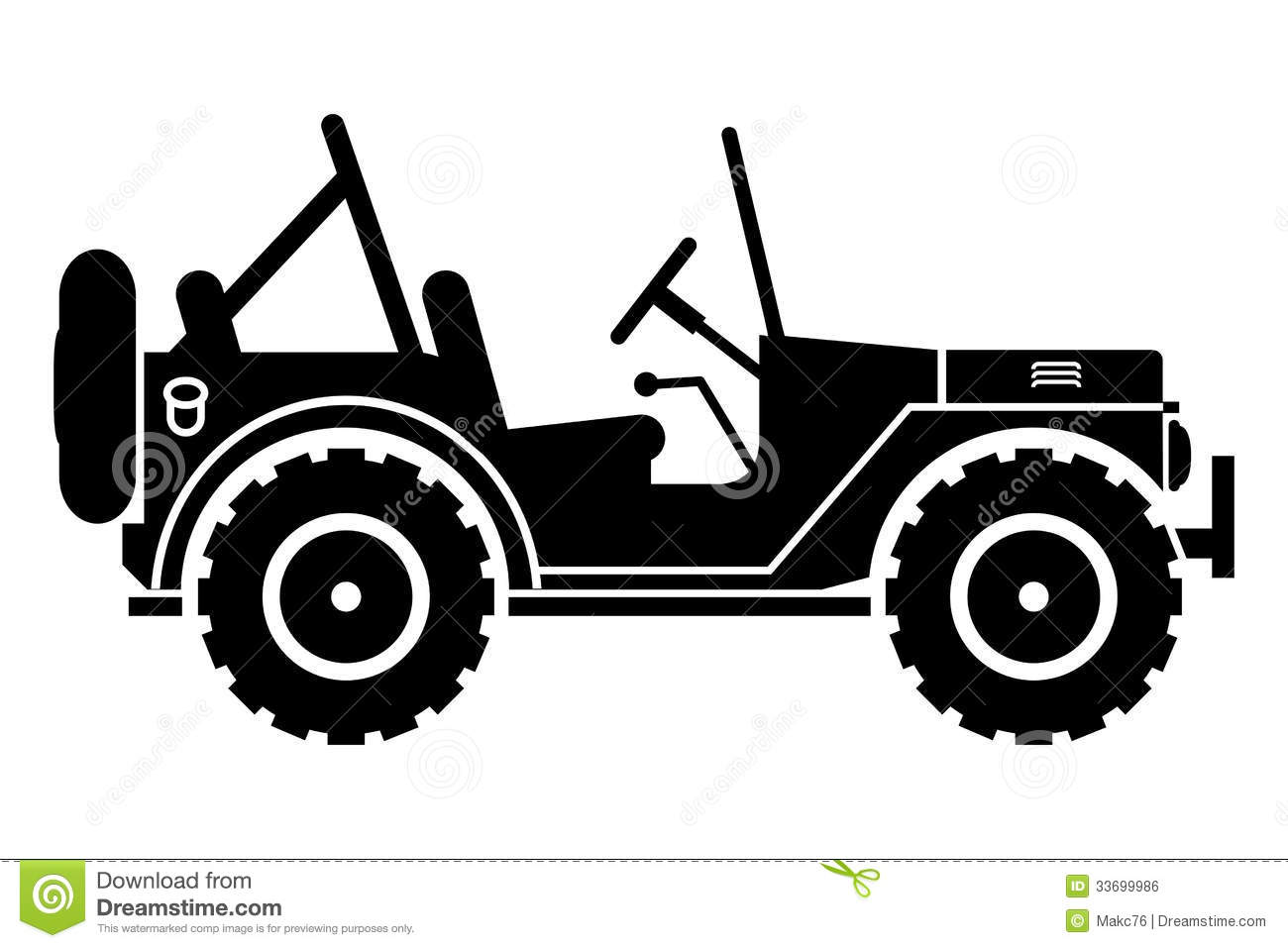 Line Drawing Jeep : Jeep clipart black and white panda free