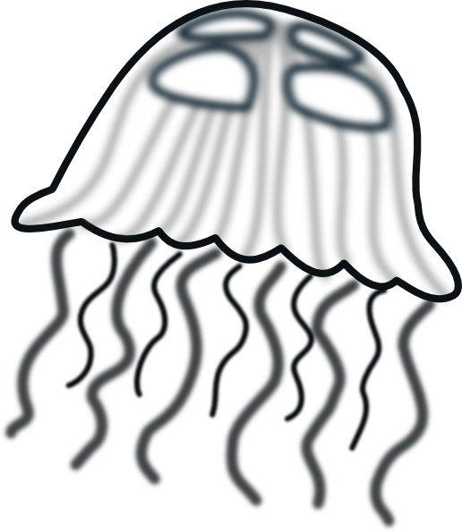 jellyfish%20clipart%20black%20and%20white