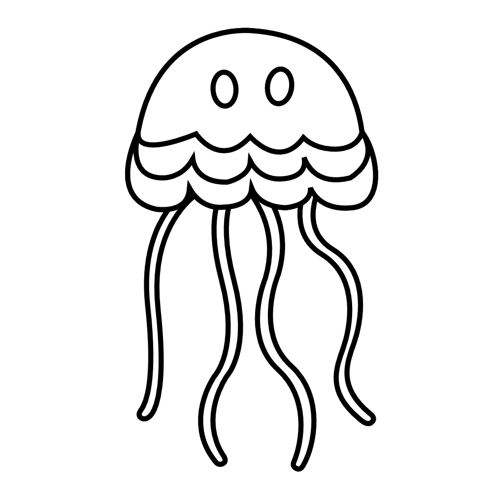 Line Art Jellyfish : Jellyfish clipart black and white panda free