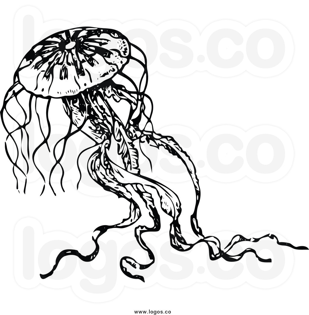 Jellyfish Clipart Black And White | Clipart Panda - Free ...