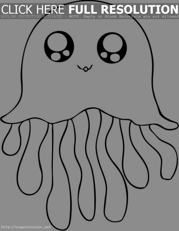 Cute Jellyfish Coloring Pages Clipart Panda Free Clipart Images