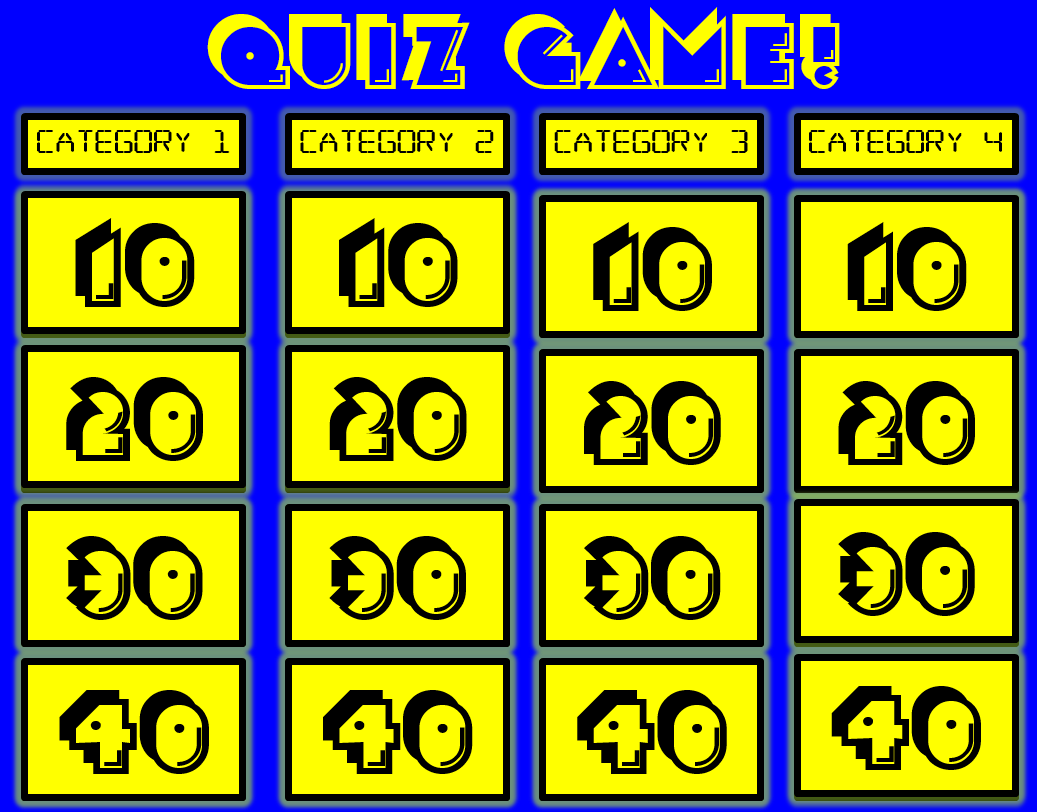 Jeopardy Game Board Clipart Panda Free Clipart Images